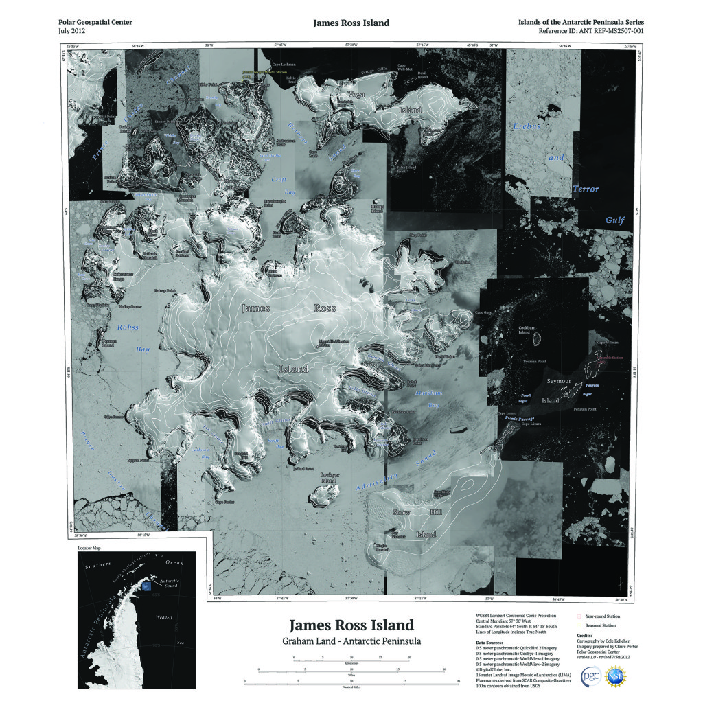 James Ross Island Group topo map (PGC)